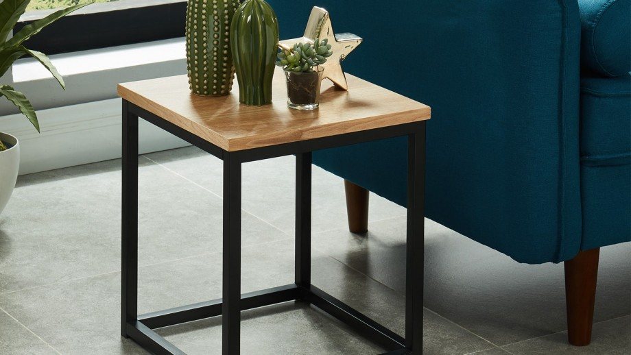 Table d'appoint industrielle 35x35x40 cm - Collection Brixton
