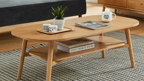 Table basse scandinave 120x60x40 cm chêne - Collection Marcel