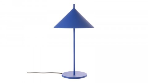 Lampe de table triangulaire bleu cobalt - HK Living