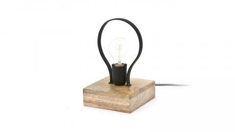 Lampe à poser design en bois et métal noir - Collection Picard