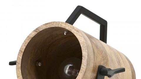 Lampe à poser en bois et métal noir - Collection Scotty