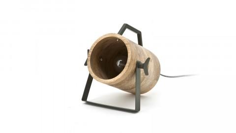 Lampe à poser en bois et métal vert - Collection Scotty