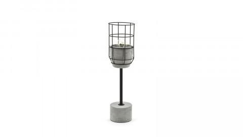 Lampe à poser en béton et métal noir - Collection Ara