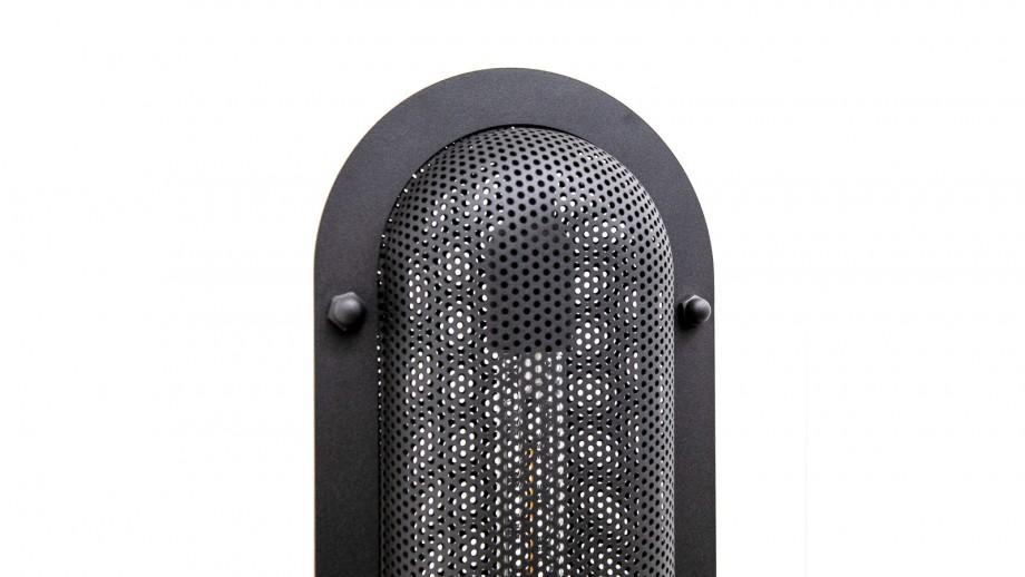 Lampadaire en métal noir - Collection Bernini
