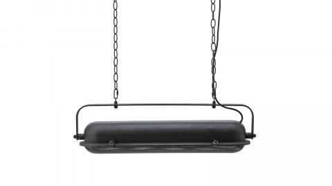 Suspension horizontale en métal noir - Collection Bernini