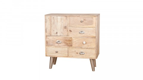 Commode en bois 6 tiroirs 1 porte - Collection Wooden