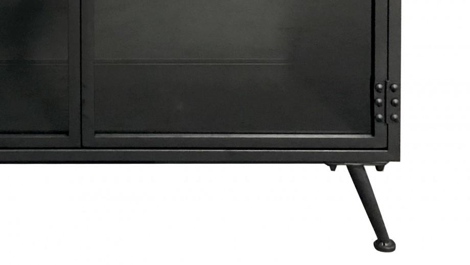 Buffet bas en métal noir 2 portes - Collection Murdock
