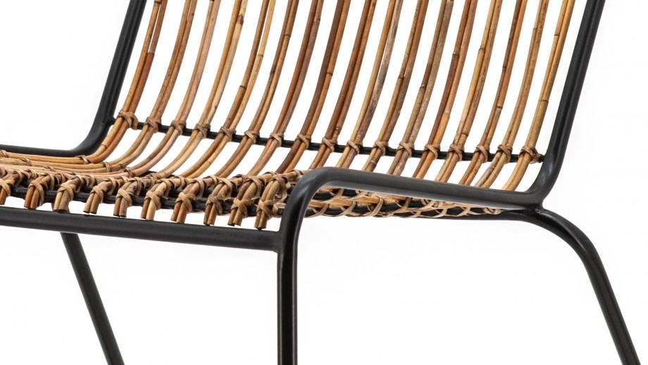 Fauteuil en bois et métal noir - Collection Kasuaris