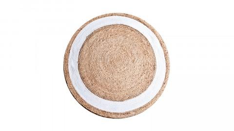 Tapis rond en jute ⌀120cm naturel et blanc - Collection Jyl
