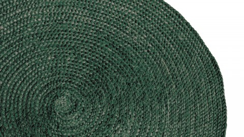 Tapis rond en jute vert ⌀120cm - Collection Oly