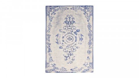 Tapis baroque bleu 200x290cm - Collection Oase