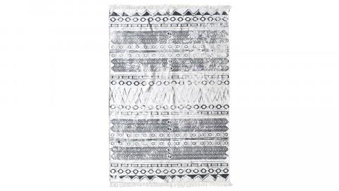 Tapis ethnique noir et blanc 120x180cm - Collection Husky
