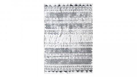 Tapis ethnique noir et blanc 160x230cm - Collection Husky