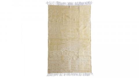 Tapis uni jaune à franges 120x180cm - Collection Mono