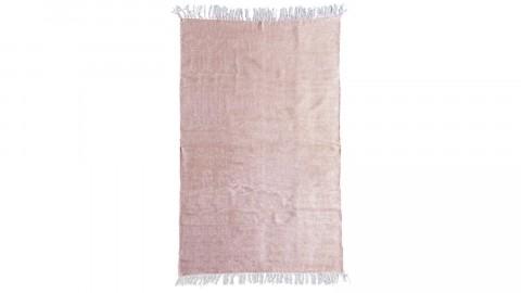Tapis uni rose à franges 120x180cm - Collection Mono