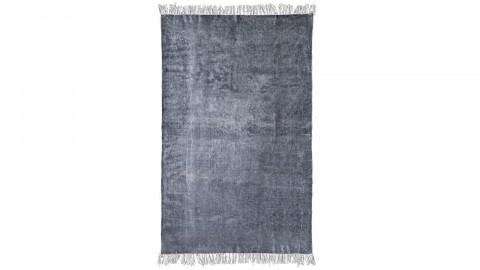 Tapis uni anthracite à franges 120x180cm - Collection Mono