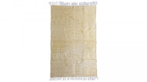 Tapis uni jaune à franges 160x230cm - Collection Mono
