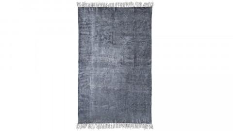Tapis uni anthracite à franges 160x230cm - Collection Mono