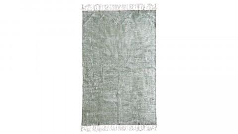 Tapis uni vert à franges 160x230cm - Collection Mono