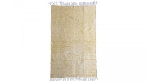 Tapis uni jaune à franges 200x290cm - Collection Mono