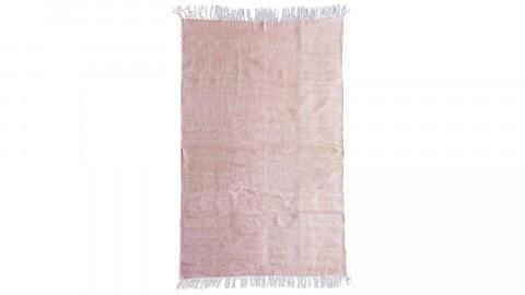 Tapis uni rose à franges 200x290cm - Collection Mono