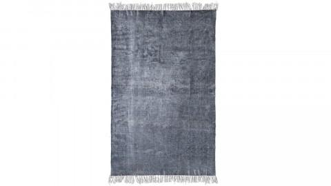 Tapis uni anthracite à franges 200x290cm - Collection Mono