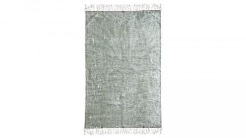 Tapis uni vert à franges 200x290cm - Collection Mono