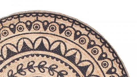Tapis ethnique rond en jute Ø220cm - Collection Emy