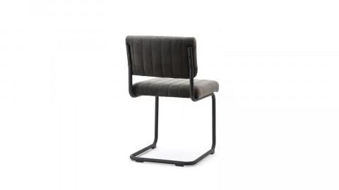 Lot de 2 chaises en velours gris - Collection Chair
