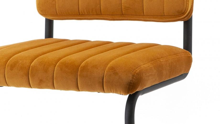 Lot de 2 chaises en velours ocre - Collection Chair