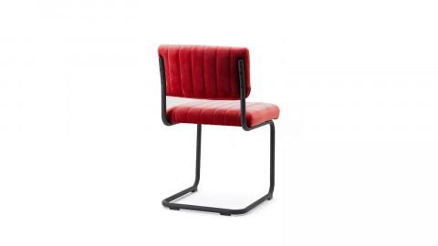 Lot de 2 chaises en velours rouge - Collection Chair
