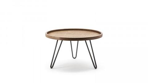 Table basse ⌀60cm en chêne piètement métal noir - Taille S - Collection Drax