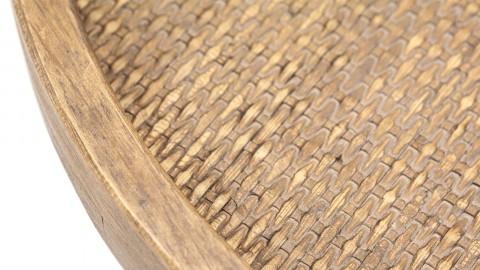 Bout de canapé ⌀40cm en chêne piètement métal - Collection Drax