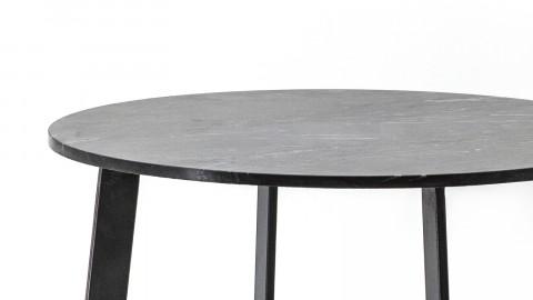 Bout de canapé ⌀70cm en marbre et métal - Collection Major