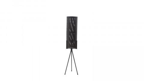 Lampadaire en rotin et métal noir - Taille S - Collection Archer