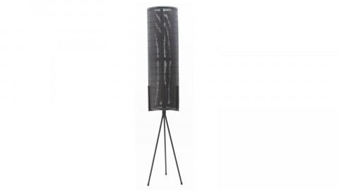 Lampadaire en rotin et métal noir - Taille L - Collection Archer