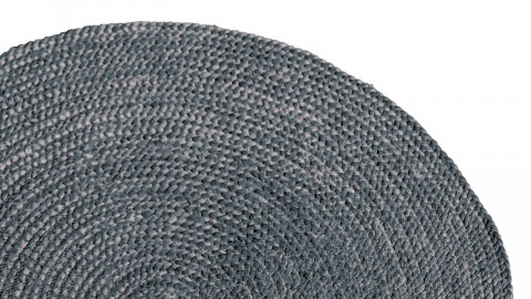 Tapis en en jute gris ø220cm - Collection Oly