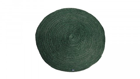 Tapis en en jute vert ø220cm - Collection Oly