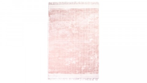 Tapis rose à franges 160x230cm - Collection Peshi