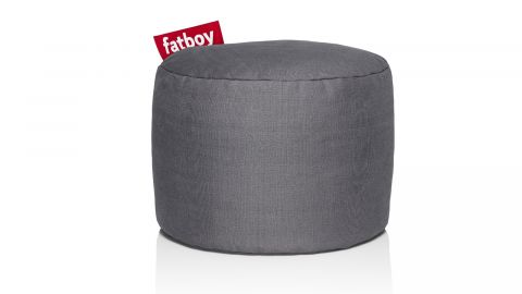 Pouf rond en coton stonewashed - Point - Fatboy