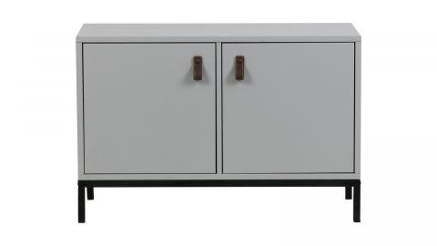 Meuble de rangement 2 portes en pin gris et métal - Vtwonen