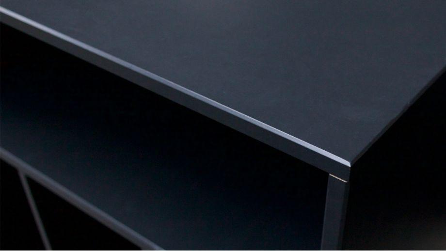 Meuble d'appoint 4 niches en bois noir - Collection James - Woood