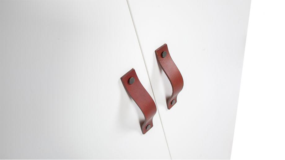 Armoire 3 portes en métal blanc - Collection Brock - Woood