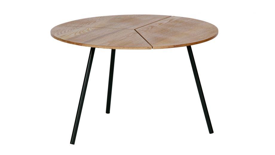 Table basse ø60 en bois et métal - Collection Rodi - Woood