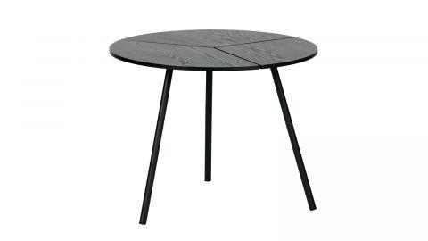 Table basse ø48 en bois et métal noir - Collection Rodi - Woood