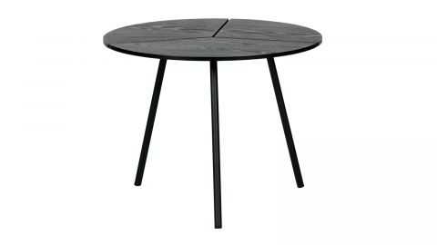 Table basse ø48 en bois et métal noir - Collection Rodi - Woood