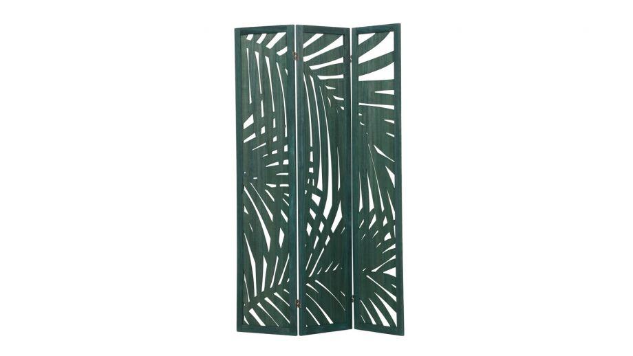 Paravent tropical en bois vert - Collection Harper - Woood