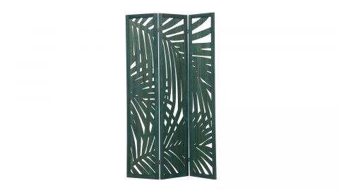Paravent tropical en bois vert - Collection Harper - Woood