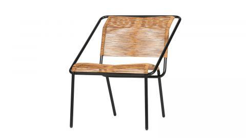 Chaise en rotin de plastique et métal noir - Collection Wisp - BePureHome