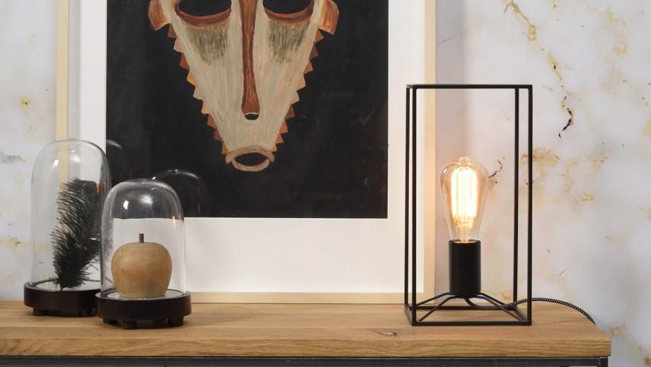 Lampe de table rectangle en métal noir - Collection Antwerp - It's About Romi